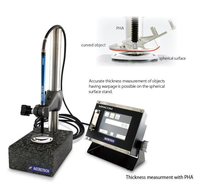 Accurate thickness measurement of objects,Thickness measurment with PHA
