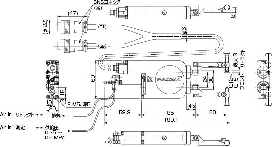 E-TV-5161A/5165A 、E-TV-3161A(サイズシフト)/5165A(サイズシフト) 外観図
