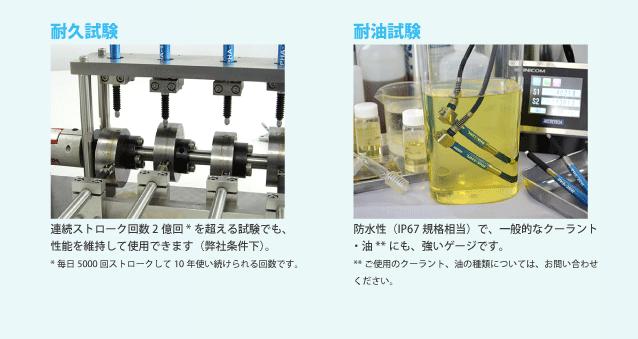 耐久試験と耐油試験