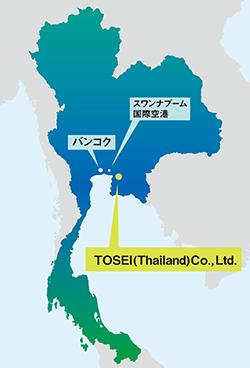 TOSEI Thailand map