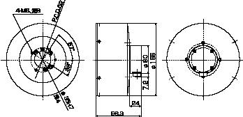 大容量バランスヘッド ブラシ式図面