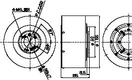 大容量バランスヘッド 非接触式図面