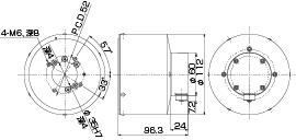標準容量バランスヘッド ブラシ式図面