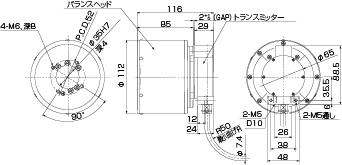 標準容量バランスヘッド 非接触式図面